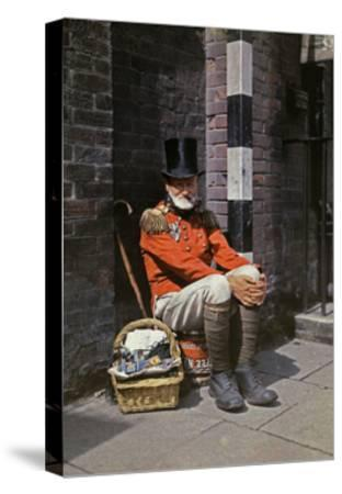 A War Veteran Sells Matches on the Street-Clifton R^ Adams-Stretched Canvas Print