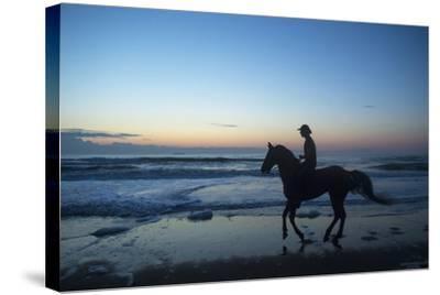 A Cowboy on Virginia Beach, Virginia-Joel Sartore-Stretched Canvas Print
