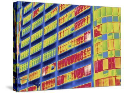 Thermal Image of Buildings in Washington D.C-Tyrone Turner-Stretched Canvas Print