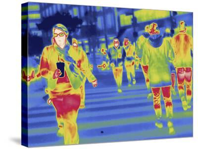 Thermal Image of People in a Crosswalk in Washington D.C-Tyrone Turner-Stretched Canvas Print
