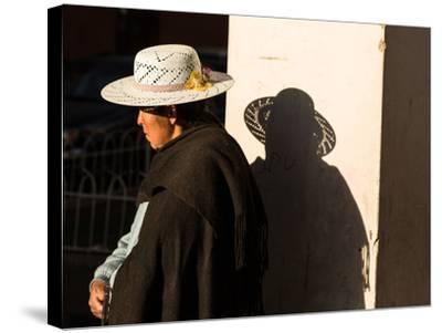A Traditional Bolivian Woman in the City of Potosi-Alex Saberi-Stretched Canvas Print