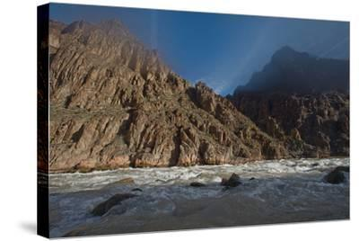 An Early Winter Morning in Granite Rapid, Colorado River-David Edwards-Stretched Canvas Print