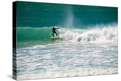 A Man Surfing Off the Coast of South Africa-Heather Perry-Stretched Canvas Print
