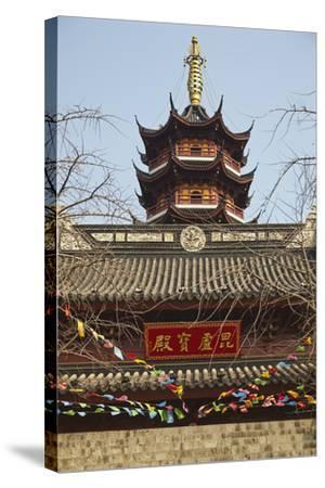 A Ming Dynasty, 15th-16th Century, Pagoda at Jiming Temple, Nanjing, Jiangsu Province, China-Nigel Hicks-Stretched Canvas Print