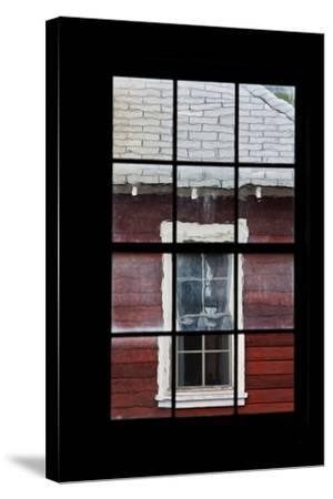 A View Through a Window at the Abandoned Kennecott Copper Mine-Marc Moritsch-Stretched Canvas Print