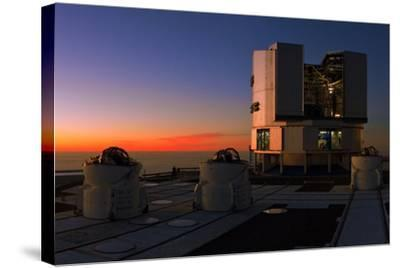 Dusk at the Very Large Telescope Operated by the European Southern Observatory on Cerro Paranal-Babak Tafreshi-Stretched Canvas Print