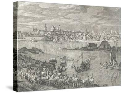 View of Warsaw-Bernardo Buontalenti-Stretched Canvas Print