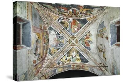 France, La Brigue, Vault of Notre-Dame Des Fontaines Chapel, Four Evangelists, 1452-Giovanni Battista Ernesto Basile-Stretched Canvas Print