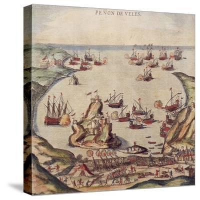 The Ottoman Corsair Khayr Al-Din Barbarossa Against Charles V's Army, 1535-Franz Jansz Post-Stretched Canvas Print