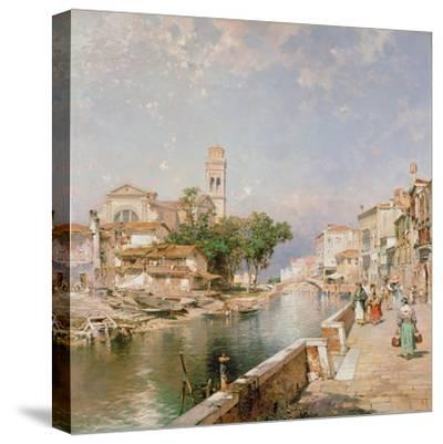 The Canal Tolentini-Franz Xaver Thallmaier-Stretched Canvas Print