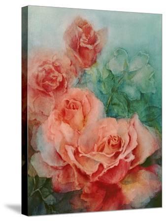 Pink Roses, Prima Ballerina-Karen Armitage-Stretched Canvas Print