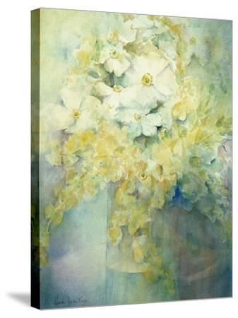 Anemone Japonica - White Queen and Molu-Karen Armitage-Stretched Canvas Print