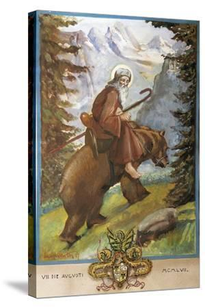 St Remedies on the Back of the Bear-Luigi Mussini-Stretched Canvas Print