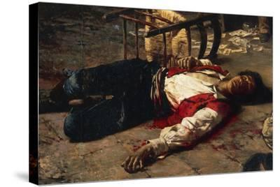 Wounded on the Ground, 1889-Michele Cammarano-Stretched Canvas Print
