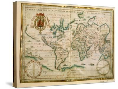 Hydrographic General Map, 1634-Jean Restout II-Stretched Canvas Print