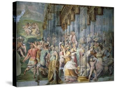 Dance Scene with Kiss, Circa 1570-Jacopo Cambi-Stretched Canvas Print