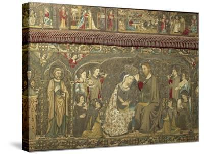 Frontal Depicting the Coronation of the Virgin Between Eight Angels and Fourteen Saints, 1366-Jacopo Ligozzi-Stretched Canvas Print