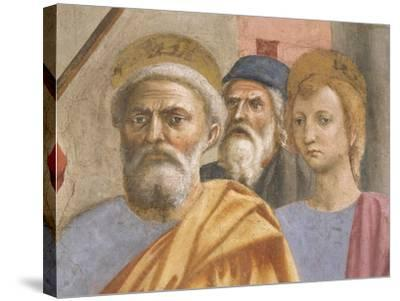 Saint Peter's Face, Detail from Saint Peter Healing the Sick-Tommaso Masaccio-Stretched Canvas Print