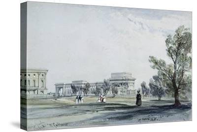 Entrance to Hyde Park at Hyde Park Corner-William Clark-Stretched Canvas Print