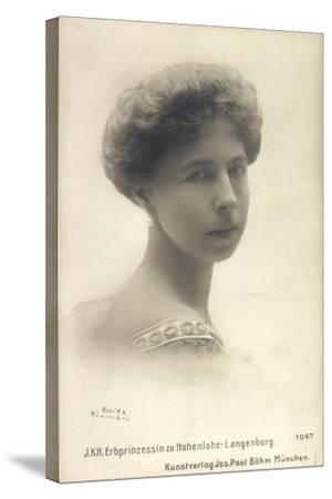 Alexandra Von Sachsen Coburg Und Gotha, Hohenlohe--Stretched Canvas Print