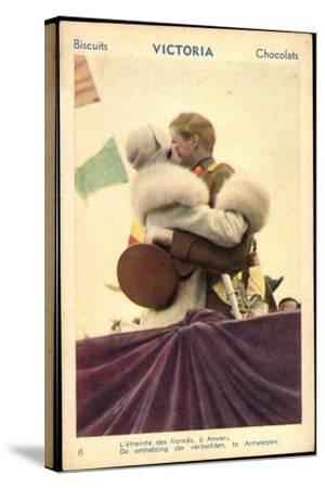 Belgisches Königspaar Astrid Und Leopold III--Stretched Canvas Print