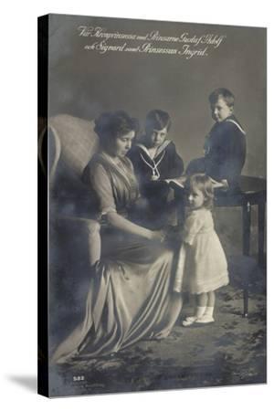 Kronprinzessin, Gustav Adolf, Sigvard, Prinz. Ingrid--Stretched Canvas Print