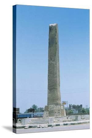 Egypt, Cairo, Heliopolis, Obelisk of Sesostris I or Senusert I--Stretched Canvas Print
