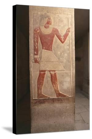 Painted Relief of Dead Mereruka--Stretched Canvas Print