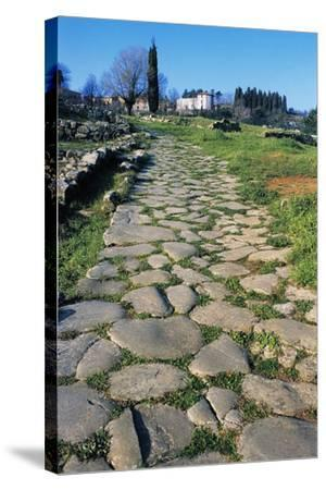 Section of Paved Road, Vetulonia Necropolis, Tuscany, Italy, Etrusco-Roman Civilization--Stretched Canvas Print