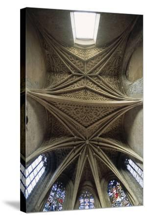 Vaults of Chapel of Chateau De Chambery, Rhone-Alpes, France--Stretched Canvas Print