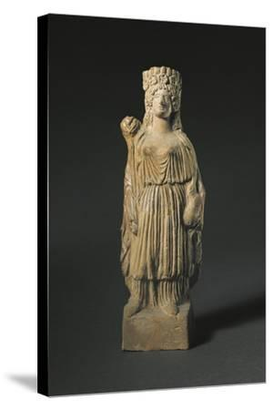 Spain, Statuette Representing the Goddess Tanit, Terracotta--Stretched Canvas Print