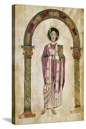 The Deacon Perto, Miniature from the Homilies by Saint Gregory--Stretched Canvas Print