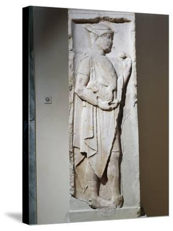 Stele with Relief Depicting Hermes, from Larisa, Greece--Stretched Canvas Print