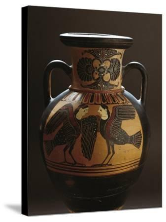 Attic Vase Depicting Two Harpies, Black-Figure Pottery, 5th Century BC--Stretched Canvas Print
