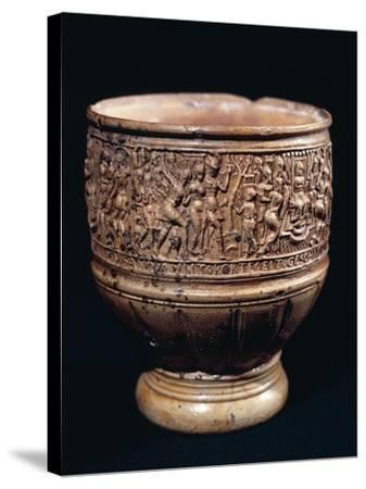 Cup with Bas-Relief Decorations--Stretched Canvas Print