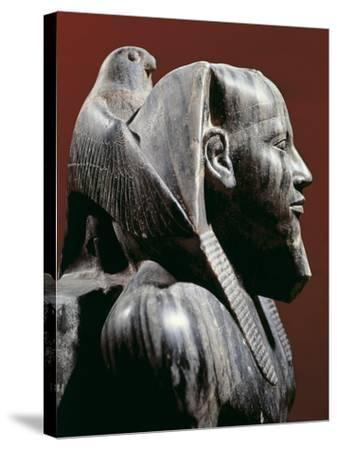 Diorite Statue of Pharaoh Khafre, from Giza, Detail--Stretched Canvas Print