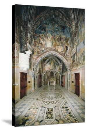 Interior of Church in Sacro Speco Monastery, Subiaco, Italy, 12th Century--Stretched Canvas Print