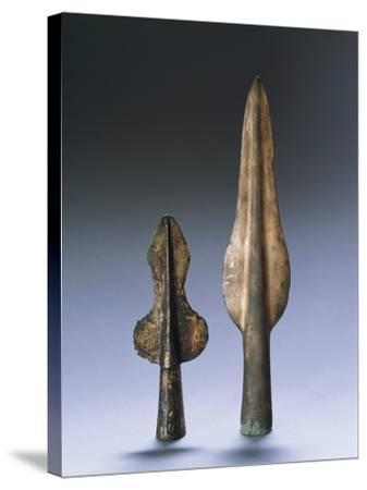 Iron Age, Spear Points--Stretched Canvas Print