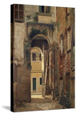 The Jewish Ghetto in Rovigo, by Giovanni Biasin--Stretched Canvas Print