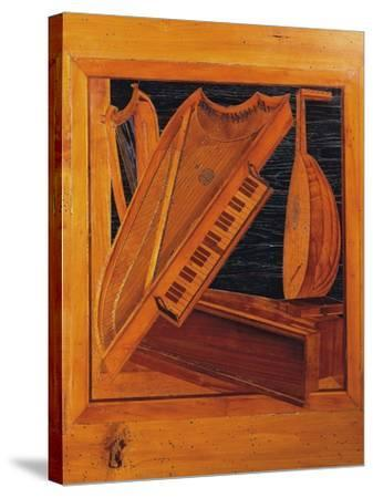 Wooden Inlays Depicting Musical Instruments, Isabella D'Este's Music Room, Ducal Palace, Italy--Stretched Canvas Print