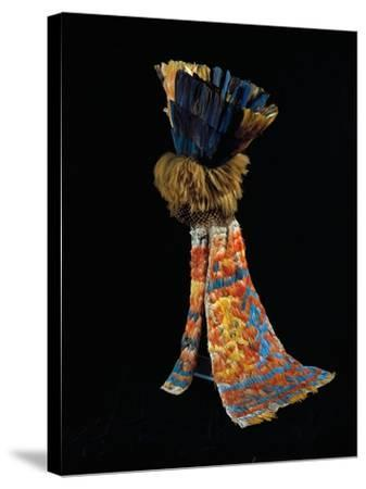 Feathered Fabric Headdress, from Peru, Chimu Culture--Stretched Canvas Print