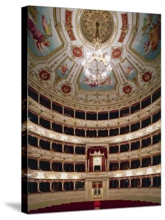 Interior of Teatro Municipale, Reggio Emilia, Emilia-Romagna, Italy--Stretched Canvas Print