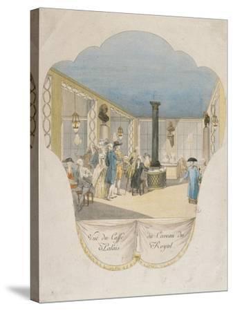 Cafe Interior at Palais Royal in Paris--Stretched Canvas Print