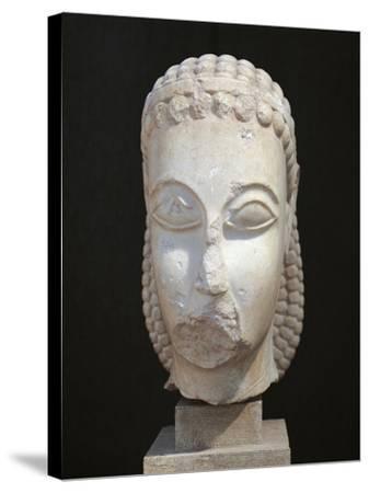 Athens, Dipylon, Head of Kouros--Stretched Canvas Print