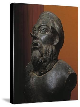 Bronze Statue of Silenus Marsyas--Stretched Canvas Print