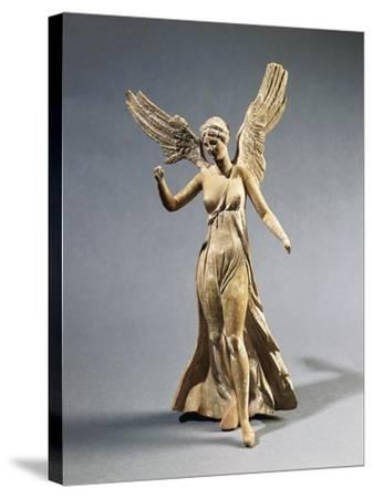 Terracotta Statuette of Victory, from Myrina--Stretched Canvas Print