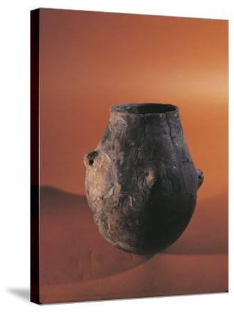 Terracotta Vessel from Alsace--Stretched Canvas Print