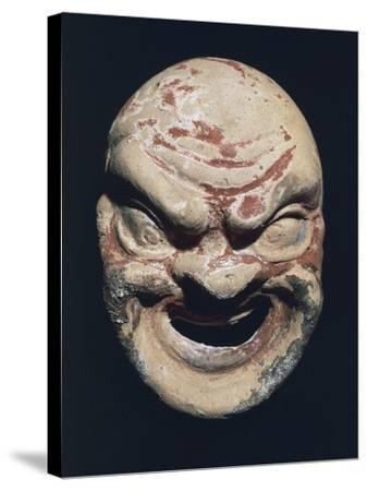 Theatre Mask, Terracotta, 3rd Century BC--Stretched Canvas Print