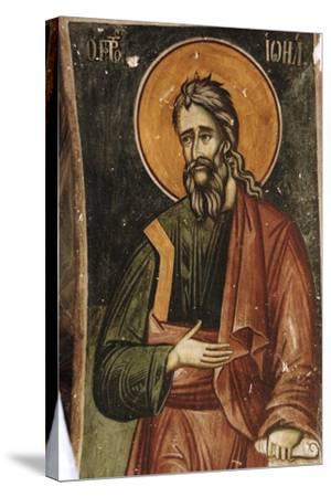 Frescoes, Exonarthex of Saint Nicholas Church--Stretched Canvas Print