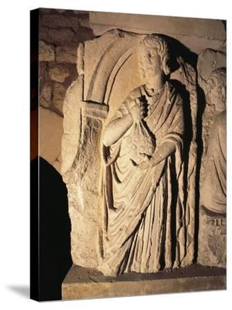 Roman Civilization, Relief Portraying Paying of Taxes, from Saintes, France--Stretched Canvas Print